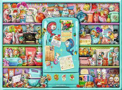 Cover of Kitschy Kitchen 500 piece puzzle - Ravensburger - 4005556165759