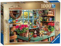 Cover of Is He Watching? 1000 Piece Puzzle - Ravensburger - 4005556195527