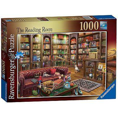 Cover of The Reading Room 1000 piece puzzle - Ravensburger - 4005556198467