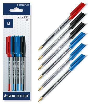 Cover of Ball Point Pen Set Mixed Colours 6 Pack - Staedtler - 4007817429020