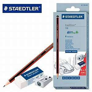 Cover of Staedtler Tradition Sketching Pencils Pack - 4007817611166