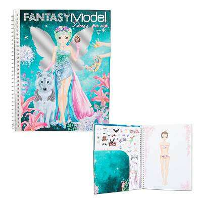 Cover of Top Model Fantasy Dress up Sticker Book - 4010070339913