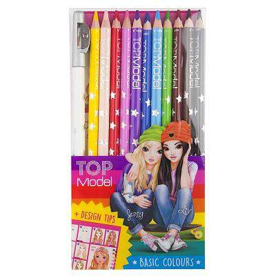 Cover of TOP Model Coloured Pencils with Free Sharpener - 4010070367633