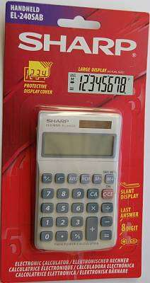Cover of Sharp EL-240SAB Basic Calculator - Sharp - 4974019023366