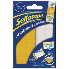 Cover of Sellotape 24 Sticky Hook & Loop Pads - 5010305050728
