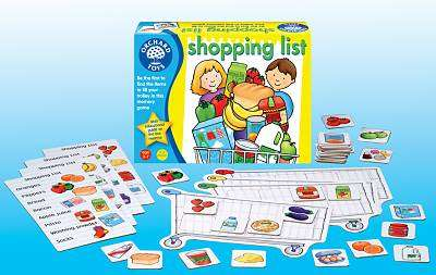 Cover of Shopping List Memory Game - Orchard Toys - 5011863100429