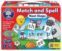 Cover of Match & Spell - Next Steps - Orchard Toys - 5011863102294