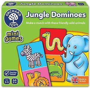 Cover of Jungle Dominoes Mini Game - Orchard Toys - 5011863102546