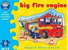 Cover of Big Fire Engine Shaped Floor Puzzle - Orchard Toys - 5011863300256