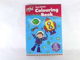 Cover of FIRST STICKER COLOURING BOOK - Galt - 5011979519177