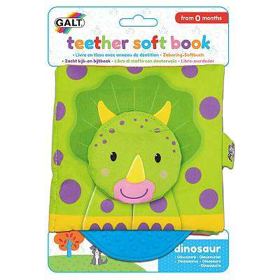 Cover of Teether Soft Book - Dinosaur - Galt - 5011979591616