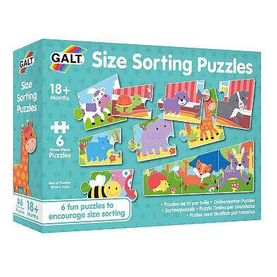 Cover of Size Sorting Puzzles - Galt - 5011979591678