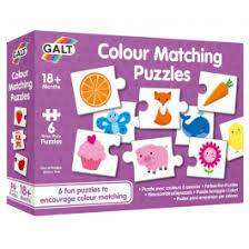 Cover of Colour Matching Puzzles - Galt - 5011979591739