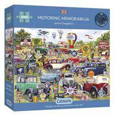 Cover of Motoring Memorabilia 1000 piece puzzle - Gibson Games - 5012269063066