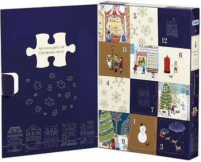 Cover of Christmas Street Jigsaw Puzzle Calendar - Gibsons - 5012269095012