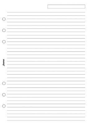 Cover of A5 RULED NOTEPAPER WHITE - Filofax - 5015142020217