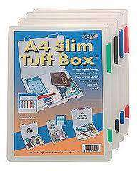 Cover of Slim A4 Tuff Storage Box - Tiger Stationery - 5016873000653