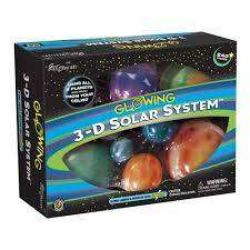 Cover of 3-D Glow In The Dark Solar System - 5018163003870