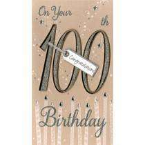 Cover of Age Card: 100th Brown - Second Nature - 5034527269980
