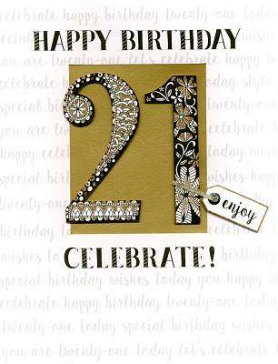 Cover of 21st Birthday Large Card - Second Nature - 5034527275646
