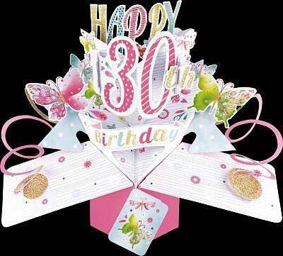 Cover of Pop-Up 30th Birthday Card - 5034527293909