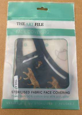 Cover of Leopards Medium Face Covering - Art File - 5035268421309