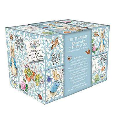 Cover of 2 Drawer Keepsake Box - Peter Rabbit Pin Up - Robert Frederick - 5051237071146
