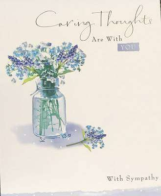 Cover of Caring Thoughts Are With You - With Sympathy - Card - Hallmark - 5054655071330