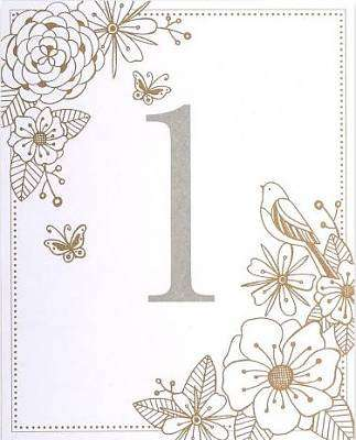 Cover of Wedding Table Numbers - Meg - 5055040841804