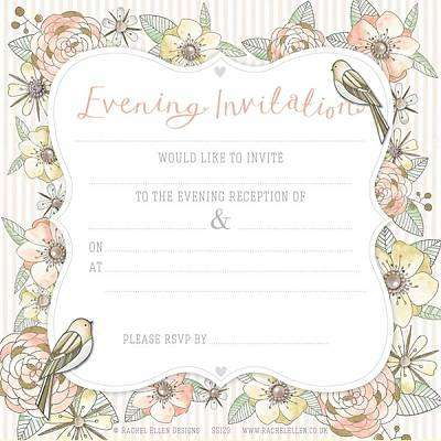 Cover of Wedding Stationery - Evening Invitation - Meg - 5055040842245
