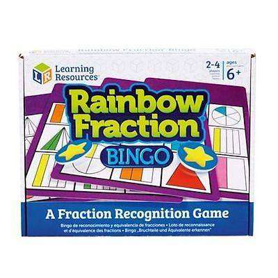 Cover of Rainbow Fraction Bingo - Learning Resources - 5055506405007