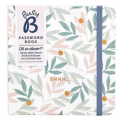 Cover of Password Book Breezy Blossoms - Shhh - BusyB - 5060022559769