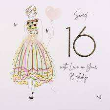 Cover of Sweet 16 With Love On Your Birthday Card - Secret Garden - Five Dollar Shake - 5060729240182