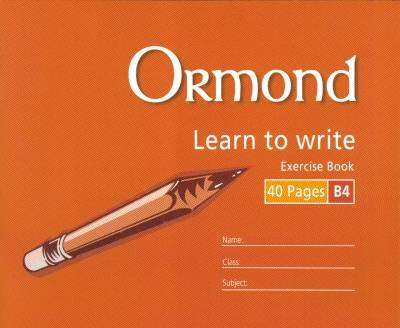 Cover of Ormond B4 Handwriting Copy - 5390380037105