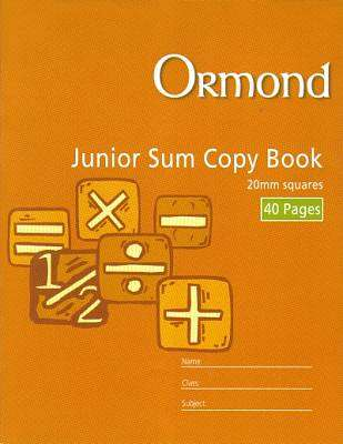 Cover of Ormond Junior Sum Copy 20mm - 5390380037129