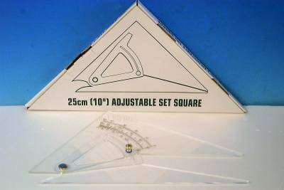 Cover of Adjustable Set Square 25CM - 5390380038447