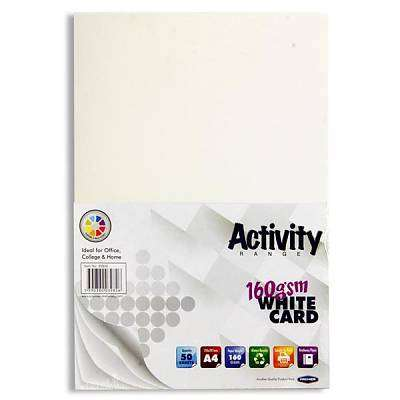 Cover of A4 White Card 50 Sheets - 5390380039826