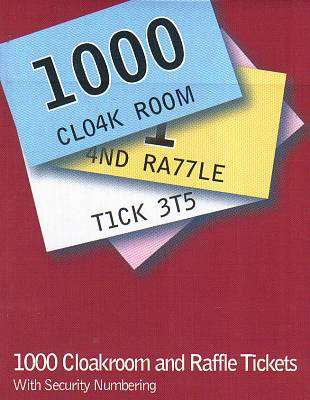 Cover of Cloakroom and Raffle Tickets 1-1000 - 5390380046497