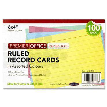 Cover of Flashcards 6x4 Multicoloured 100 Pack - 5390380074803