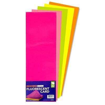 Cover of 12X4 FLOURESCENT CARD - 5390380552134