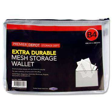 Cover of Premier B4 Extra Durable Mesh Storage Wallet - 5390380570596