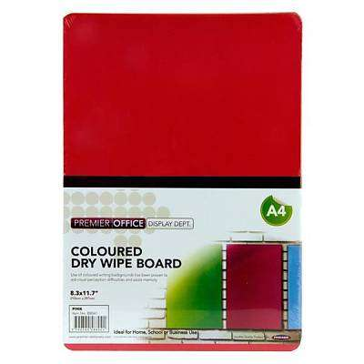 Cover of Premier Office A4 Coloured Dry Wipe Board Pink - 5390380588041