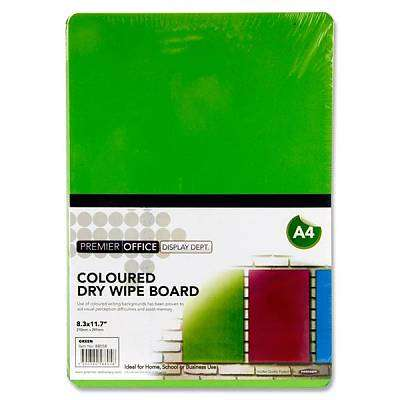 Cover of Premier Office A4 Coloured Dry Wipe Board - 5390380588058