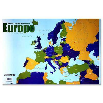 Cover of Map of Europe Clever Kidz Wall Chart - 5390380598958