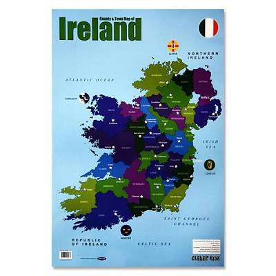 Cover of Map of Ireland Clever Kidz Wall Chart - 5390380598965