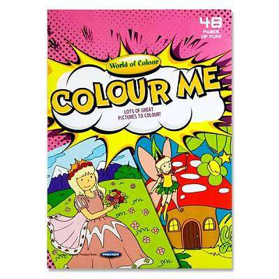 Cover of World of Wonder Colour Me 48 page Colouring Book - 5390380612661