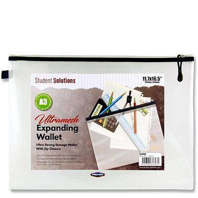 Cover of Student Solutions A3 Clear Ultramesh Expanding Wallet - 5390380613231