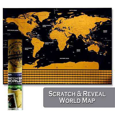 Cover of Universal Scratch Off World Map - Premier - 5390380619646