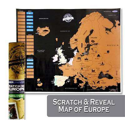 Cover of Premier Universal Scratch Europe Map 55x43cm - Premier Stationery - 5390380623964