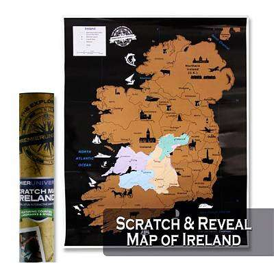 Cover of Premier Universal Scratch Ireland Map 55x43cm - Premier Stationery - 5390380623971